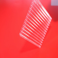 Solar Polycarbonate Corrugated Sheet perfect for greenhouse plant (Pearly RED series)