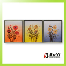 2015 Chinese New Year Decorative Home Decor,Flower Handmade Oil Painting,Canvas Oil Painting