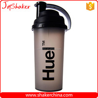 Transparent Black Sports Plastic Shaker with Custom Printing