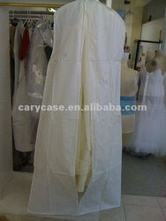 latest storage breathable white non woven wedding dress cover, gown bag