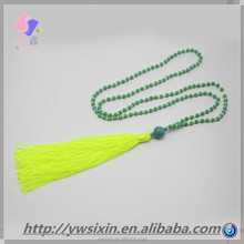 2015 summer The latest quarter Fluorescent color Turquoise necklace Of YIWU