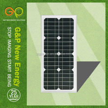 solar panel wall mount 25W with CE/CEC/TUV/ISO