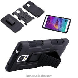 4 Styles Armor Hybrid Case Military 3 in 1 Combo Cover For Samsung Galaxy Note 4 3 S4 S5 S6 EDGE Stand Case Triple Full Capa