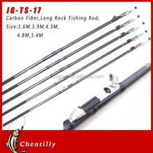 Chentilly02 JG-TS-17 wholesale Spinning carbon fiber Long rock Fishing Rod