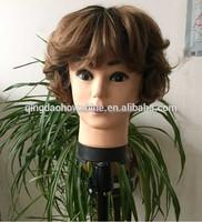 Top fashion stock wavy brazilian hair wig for asian women