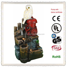 2015 new water fountain resin birds wholesale art and craft supplies