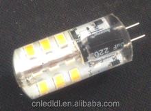Silicone 2835 smd 2.4W 220lm LED G4 AC/DC12V G4 LED Light