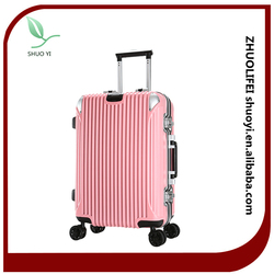 customized luggage luggage travel bags trolley luggage for PC ABS material