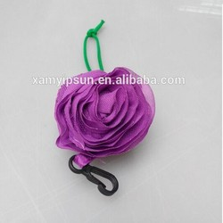 purple rose style foldable shopping bag