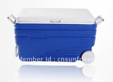 98L blue big camping cooler box twith wheels