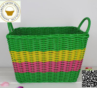 2015 hot plastic vegetable storage basket/plastic shopping basket/handmade storage basket