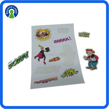 Good effect glossy lamination home decoration sticker, self adhesive decoretion sticker for kids.