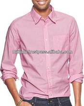High Quality Pink Plain Casual and formal Trendy Mens Shirt