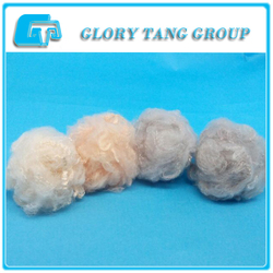 2015 good quality recycled dope dyed polyester staple fiber 1.5d for spinning with stock