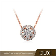 2015 new product AAA Zircon gold plated necklace dubai 18K gold jewelry