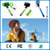 Wholesale colorful take pole cable selfie stick with cable for iphone and Android Smart phone