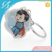Yiwu manufacturer custom acrylic chain supply keychain free sample keyring wholesale