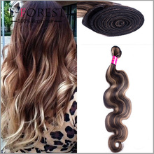 Wholesale Piano Color #30 613 Mixed Color Peruvian Wave Remy Human Hair Extentions Highlight Brown And Blonde Bundles
