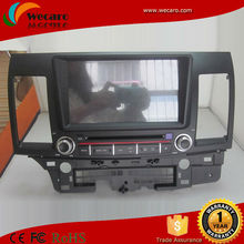 Upgrade Android System in dash dvd player touch screen car dvd gps for mitsubishi lancer ex