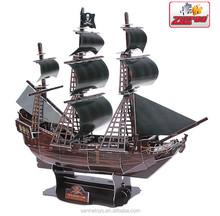 The Hot Sale Famous Ship 3D Puzzle Children Toy