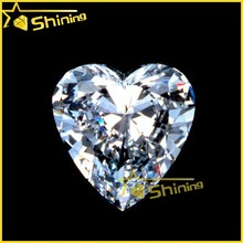 Heart shape Cubic Zirconia made in China heart CZ gems white cubic