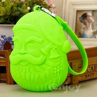 Colorful dustproof silicone easy wallet with Santa Claus design