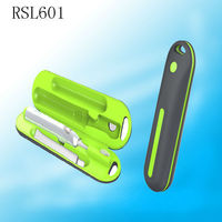 RLS6011 Fashion Design Electric Battery Operated Sonic Rechargeable Head Travel Charger Covered Toothbrush Travel Case