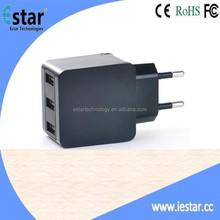 3 port USB Wall Charger 5V 3.1A for Tablets