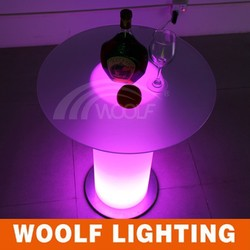 strong loading battery operated led glass top pillars