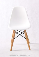 plastic kids chair with wood legs, Charles Eames DSW Kids Chair, Children Dining Chair, white