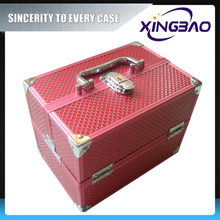 Original clear cosmetic case with nylon and inner box,professional fashion cosmetic case,aluminum cosmetic case