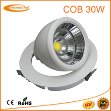 PF>0.95 high power COB 30w led downlight with 190mm cut-out for supermarket/hotel/retail lighting