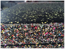 China golden quality gym rubber mat/1 inch thick rubber