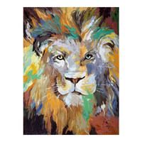 Wall Decorative Colorful Lion Painting for Living room
