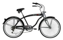 Classic women chopper bicycle beach cruiser bike with rear carrier 6 speed