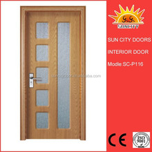 2014 New promotion appartment wooden door design pvc door SC-P116
