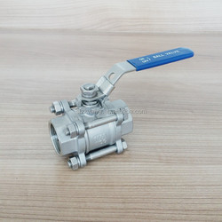 3PC stainless Steel Ball Valve with Nipples
