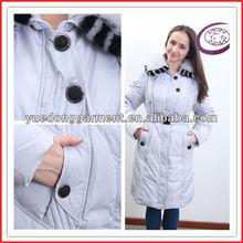 venta al por mayor de Europa Femenino de la manera popular caliente largo abrigo para el invierno Y11506