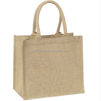 natural jute shopping bag / factory wholesale