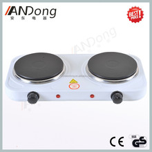 High quality two burner electric stove with solid hot plate