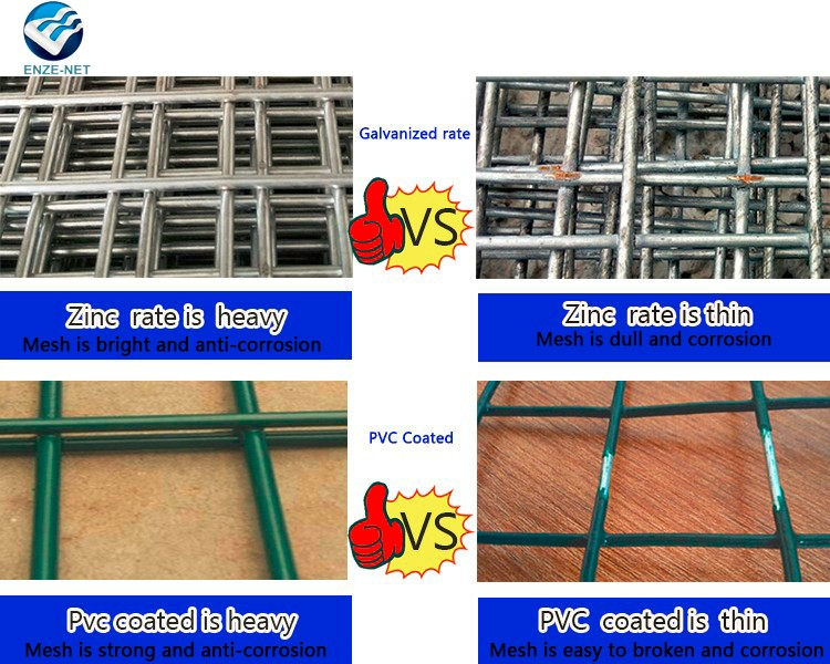 Professional China factory 3x3 galvanized welded wire mesh panel/20 gauge steel wire mesh