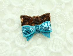 2015 Newest baby girls mini sequin bows with headband for hair accessory