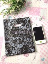 Free Shipping 15x20cm 100pcs Black Flower Plastic Shopping Bag Retail Favor Embalagem Wedding Gift Packaging Bag