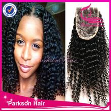 cheap virgin brazilian lace closure hair , remy lace front closure with baby hair , lace closure brazilian deep wave