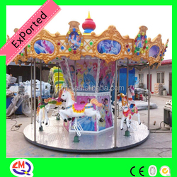 Cheap carousel!!! children game in stock horses rides hors to ride