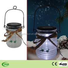 Glass solar garden led lantern