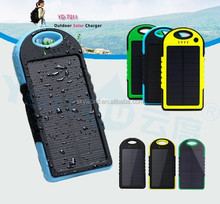 Portable waterproof Mobile phone solar charger ,solar power bank for our smartphone from china supplier