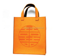 golden yellow Felt Shopping Bag Promotion Tote Bag for lady's