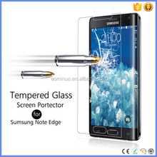 China supply Rounded Edges Tempered Glass Screen Protector for Samsung Note edge with Oleophobic Coating accpet paypal payment