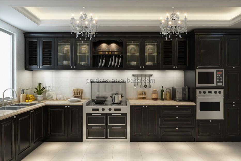 Muebles de lujo mueble cocina contraventanas de aluminio vidrio de ...